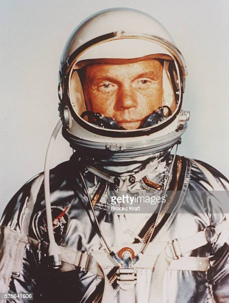 Official portrait of the astronaut in the 1960's at the time of the Mercury Mission