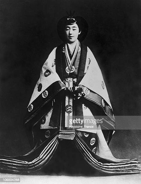 Official Portrait Of The Empress Nagako, Hirohito'S Wife, After Her Coronation On November 10Th 1928.