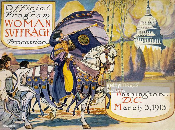 Official Program for the Woman Suffrage Procession Washington DC March 3 1913 Screen print by the National American Women's Suffrage Association