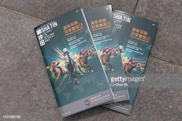 Official racing programme during the FWD Champions Day at Sha Tin Racecourse on April 26 2020 in Hong Kong