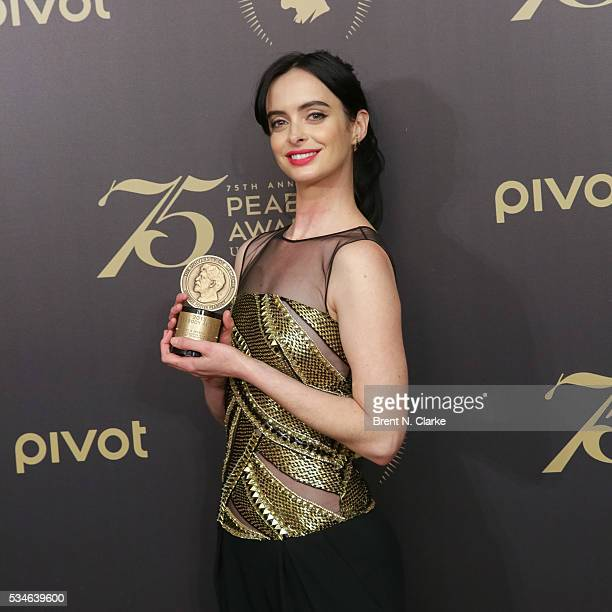Official recipient for 'Marvel's Jessica Jones' Actress Krysten Ritter poses for photographs in the press room during the 75th Annual Peabody Awards...