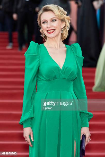 Official representative of the Ministry of Foreign Affairs of Russia Maria Zakharova attends opening of the 39th Moscow International Film Festival...
