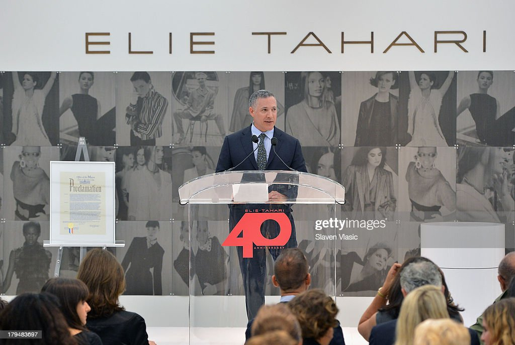 NYC official Robert Goldrich attends New York City's Elie Tahari Day at Elie Tahari Pop-up Store on September 4, 2013 in New York City.