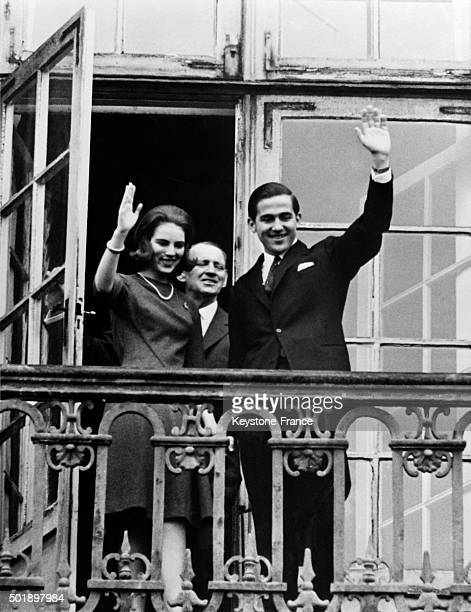 Official Royal Engagement Between Prince Constantine Of Greece And Princess AnneMarie Of Denmark in Copenhagen Denmark on January 26 1963