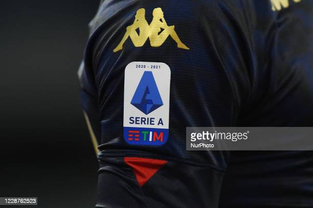 Official Serie A Patch during the Serie A match between SSC Napoli and Genoa CFC at Stadio San Paolo Naples Italy on 27 September 2020.