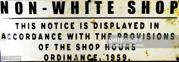 Official signs used in South Africa under the Apartheid administration Apartheid was a system of institutionalised racial segregation that existed in...