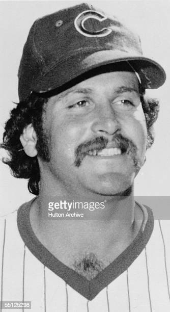 Official team portrait of American professional baseball player Steve Stone, pitcher for the Chicago Cubs, circa 1975.
