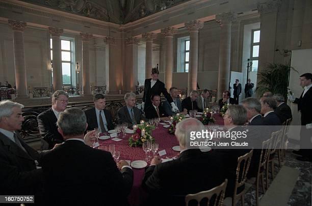 Official Travel Of Argentine President Carlos Menem In France. En juin 1998, à l'occasion d'une visite officielle en France le président d'...
