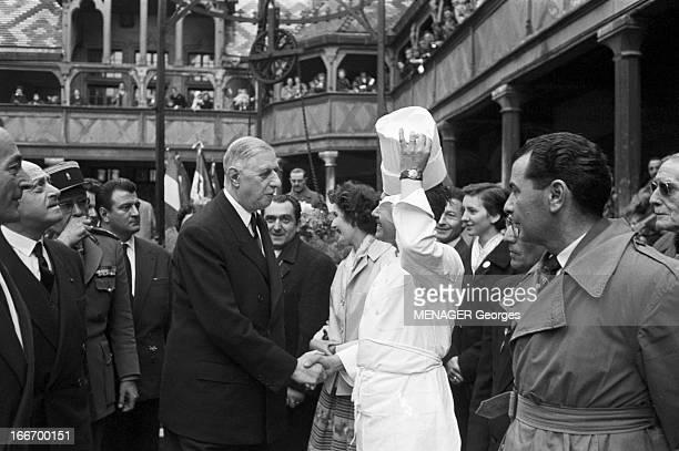 Official Travel Of De Gaulle In Burgundy And Bourbonnais Inapril 1959 France Bourgogne le Creusot et le Bourbonnais entre le 17 et le 22 avril 1959...
