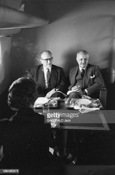 Official Travel Of Guy Mollet In The Ussr In May 1956 Visite officielle de Guy MOLLET président du Conseil français en URSS en mai 1956 Dans l'avion...
