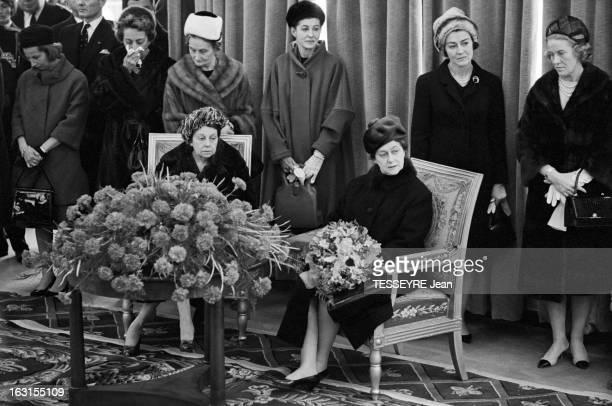 Official Travel Of Italian President Antonio Segni In France. Paris du 19 au 22 février 1964, le président italien Antonio SEGNI effectue un voyage...