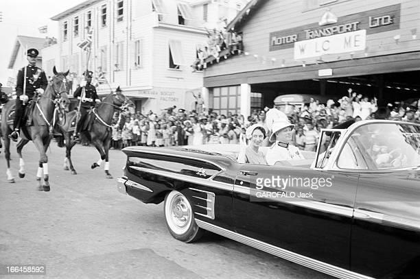 Official Travel Of Margaret Of England To British Guiana Mai 1958 MARGARET d'Angleterre en voyage en Guyane britannique arrive à Georgetown la...