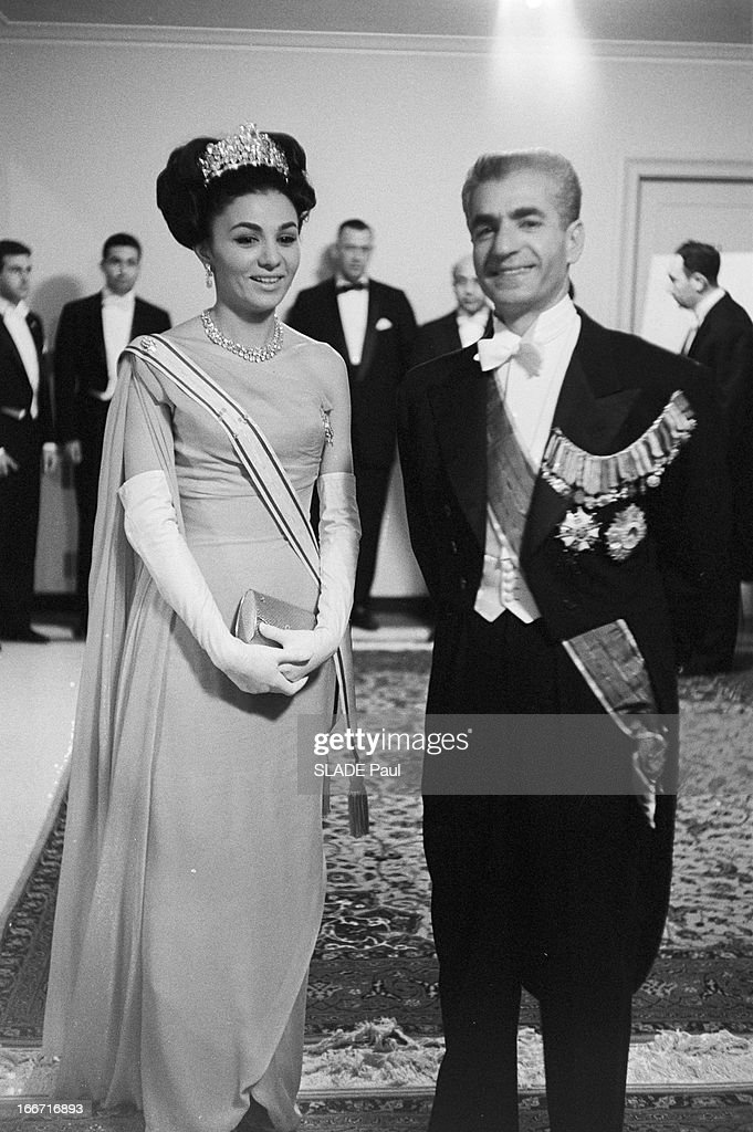 Official Travel Of The Shah Of Iran And His Wife Farah Diba In America : News Photo