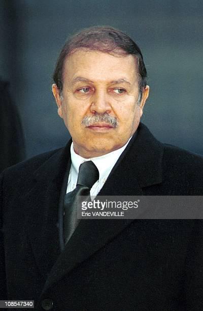 Official visit of Algerian President Abdelaziz Bouteflika in Rome Italy on November 15th 1999