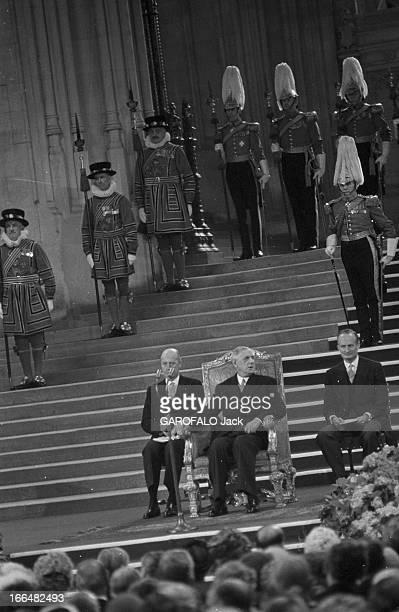 Official Visit Of Charles De Gaulle To The United Kingdom Londres 7 Avril 1960 Lors de la visite du Président Charles DE GAULLE et de son épouse Dans...