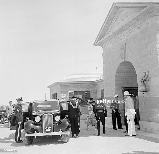Official Visit Of Elizabeth Ii And Philip In Tobruk Libye mai 1954 Visite officielle de la reine d'Angleterre Élisabeth II et le prince Philip à...