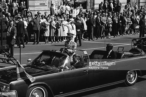 Official visit of Ethiopian emperor Haile Selassie with President John Fitzgerald Kennedy in Washington DC on October 6 1963