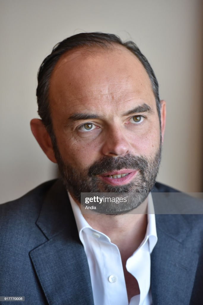 Official visit of Edouard Philippe to Le Havre. : News Photo