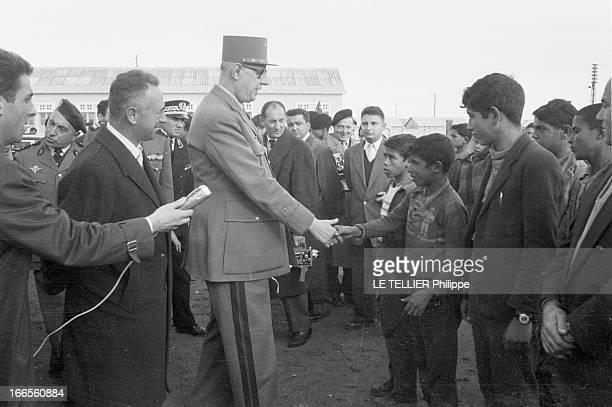 Official Visit Of General Charles De Gaulle To The Algerian Sahara Algérie Sahara décembre 1958 Suite au mouvement populaire qui agite le pays et à...