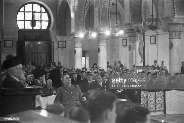 Official Visit Of General Charles De Gaulle To The Algerian Sahara. Algérie, Sahara, décembre 1958, Suite au mouvement populaire qui agite le pays,...