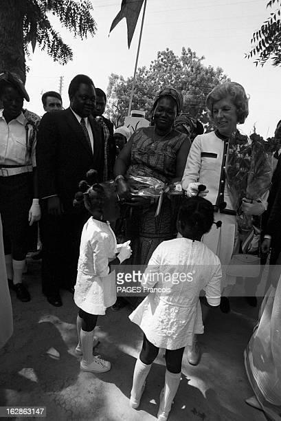Official Visit Of Georges And Claude Pompidou To Chad Tchad 29 janvier 1972 le président de la république française Georges POMPIDOU et son épouse...