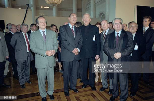Official Visit Of Jacques Chirac In Russia En Russie à SaintPétersbourg et Moscou les 1er et 3 juillet 2001 lors d'une voyage officiel de trois jours...
