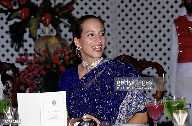 Official Visit Of Karim Aga Khan In Pakistan A l'occasion de la visite de son père au Pakistan la princesse ZAHRA avec une robe indienne et une...