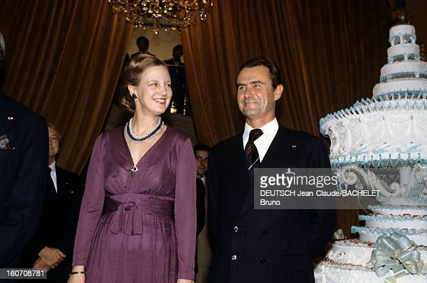Official Visit Of Margrethe And Henrik Of Denmark In France En France en octobre 1978 lors d'une visite officielle la Reine Margrethe II DE DANEMARK...