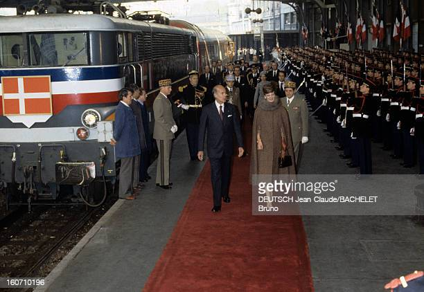 Official Visit Of Margrethe And Henrik Of Denmark In France En France à Paris en octobre 1978 lors d'une visite officielle Valéry GISCARD D'ESTAING...