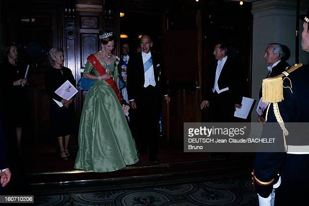 Official Visit Of Margrethe And Henrik Of Denmark In France En France à Paris en octobre 1978 lors d'une visite officielle la Reine Margrethe II DE...