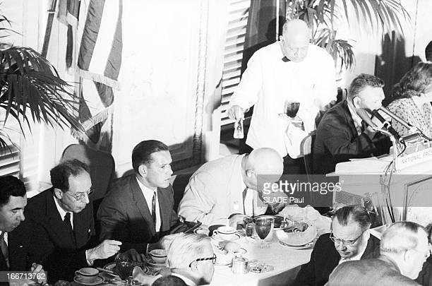 Official Visit Of Nikita Khrushchev To New York EtatsUnis New York 18 septembre 1960 visite officielle de Nikita KHROUCHTCHEV président du Conseil de...