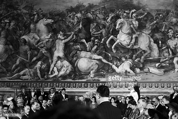 Official Visit Of President Charles De Gaulle To Italy. En Italie, lors de la visite officielle du président de la république française, Charles DE...