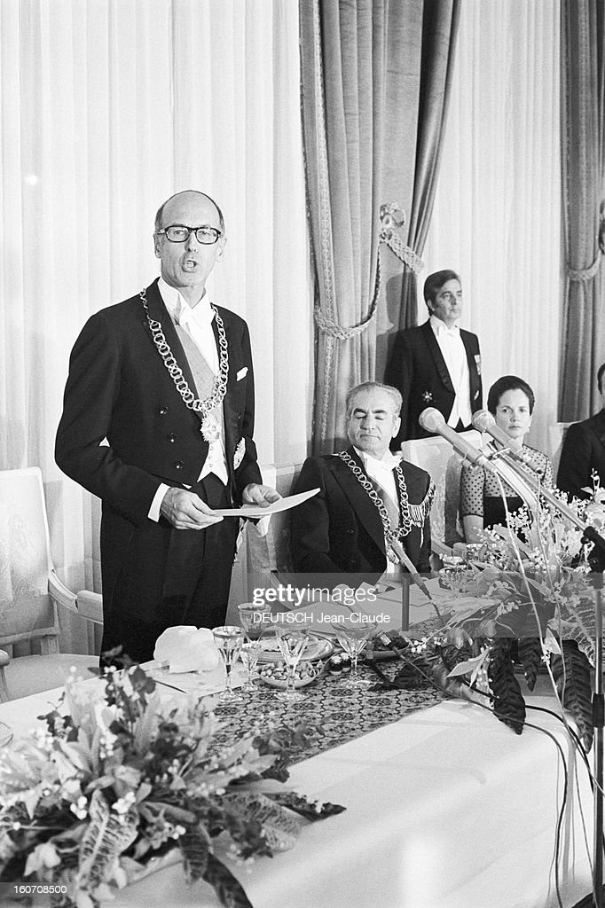 official visit of president valery giscard d 39 estaing in iran a news photo getty images. Black Bedroom Furniture Sets. Home Design Ideas