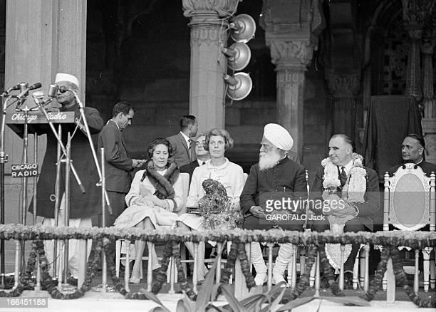Official Visit Of Prime Minister George Pompidou To India And Pakistan Inde 10 février 1965 Lors de son voyage officiel en Inde Georges POMPIDOU...