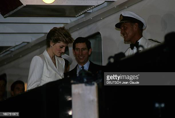 Official Visit Of Prince Charles Of Wales And Princess Diana In Oman A Oman en novembre 1986 lors d'une visite officielle le Prince Charles DE GALLES...