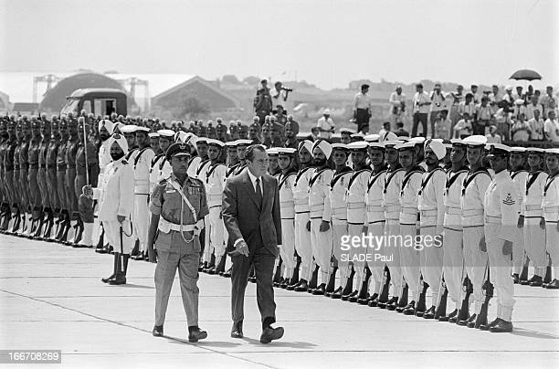 Official Visit Of Richard Nixon To India And Pakistan. Inde, aout 1969, Le président des Etats-Unis Richard NIXON est en voyage officiel dans le...