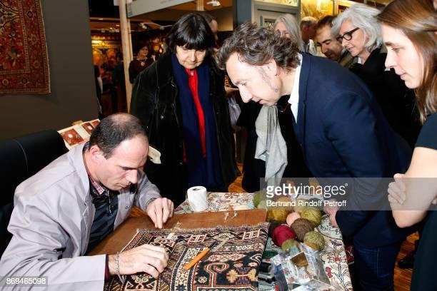 Official Visit of Stephane Bern at the 'International Exhibition of Cultural Heritage Salon International du Patrimoine Culturel' at Le Carrousel du...