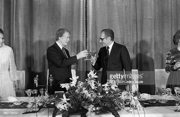 Official Visit Of The President Of The United States Jimmy Carter In Iran. Iran, Téhéran- 1 janvier 1978- Lors de sa visite officielle, le président...