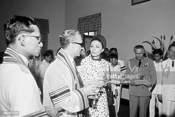 Official Visit Of The Shah Of Iran To Thailand Bangkok 24 Janvier 1968 A l'occasion de la visite officielle en Thaïlande du Shah d'Iran le roi...