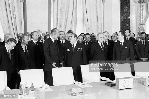 Official Visit Of Valery Giscard D'estaing In The Ussr Moscou avril mai 1979 le président de la république française Valéry GISCARD D'ESTAING et le...
