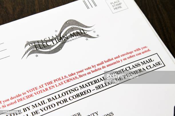 official vote by mail ballot envelope - voting by mail stock pictures, royalty-free photos & images