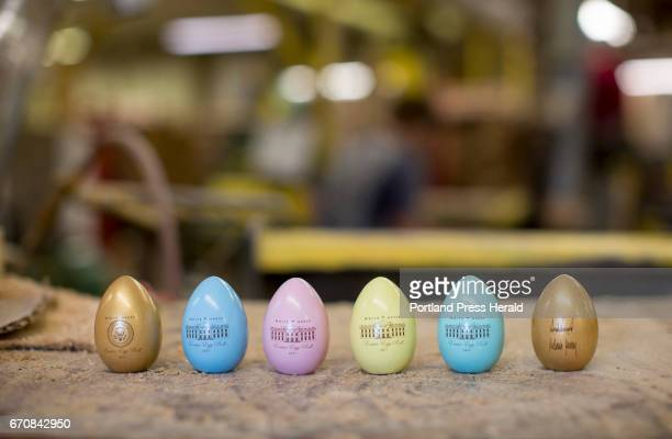 Official White House Easter Eggs inside the Wells Wood Turning and Finishing mill