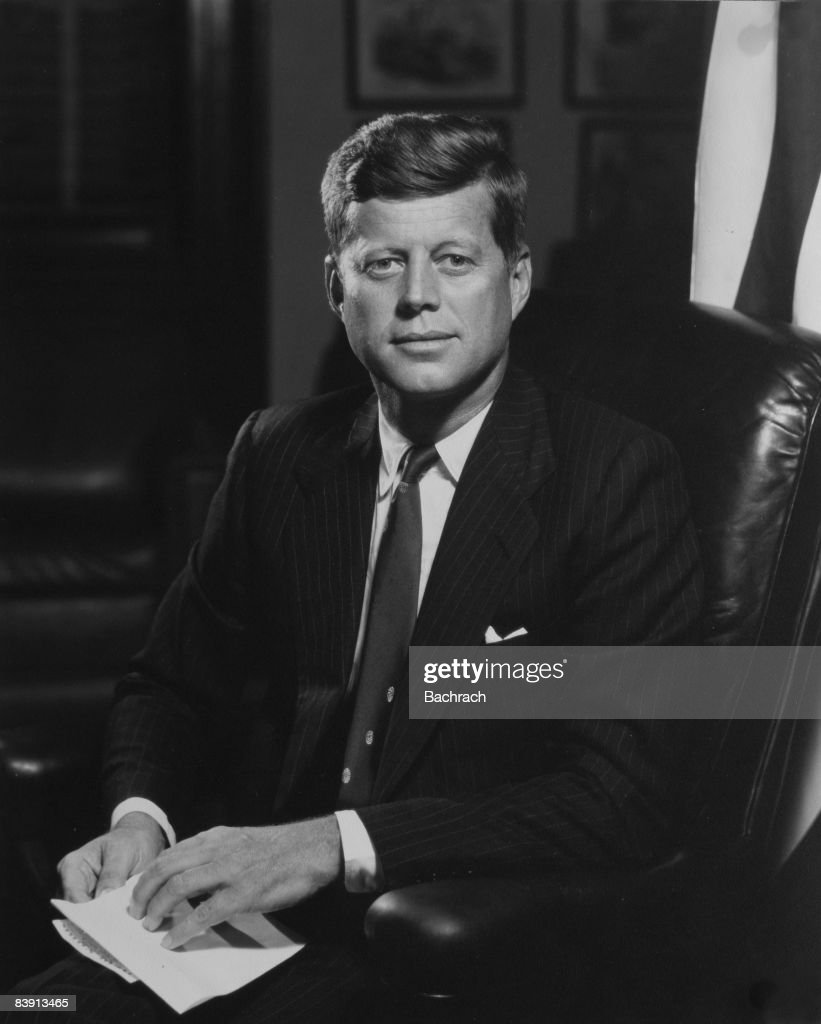 Official Portrait of John F. Kennedy : News Photo