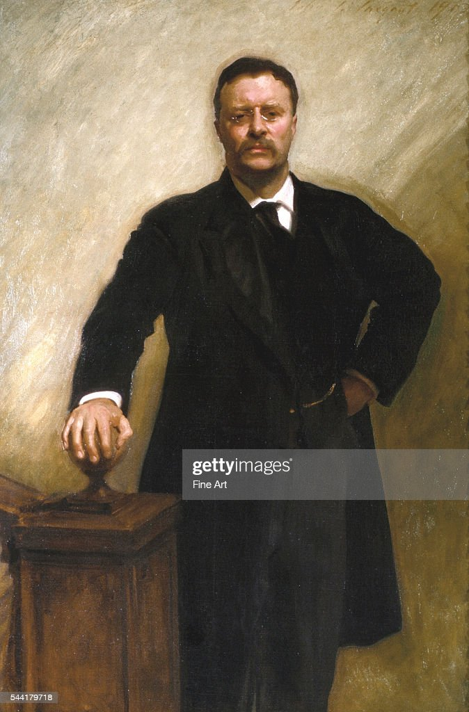 Official White House portrait of President Theodore Roosevelt. 1903. Oil on canvas. 58.11 x 40 inches (147.6 x101.6 cm). Located in the White House, Washington, DC, USA.