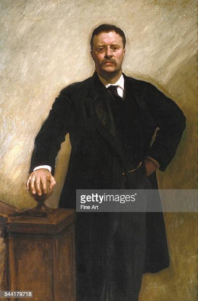 Official White House portrait of President Theodore Roosevelt 1903 Oil on canvas 5811 x 40 inches Located in the White House Washington DC USA