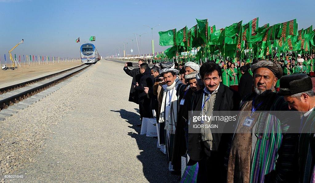 TURKMENISTAN-AFGHANISTAN-TAJIKISTAN-RAIL-TRANSPORT-POLITICS : News Photo