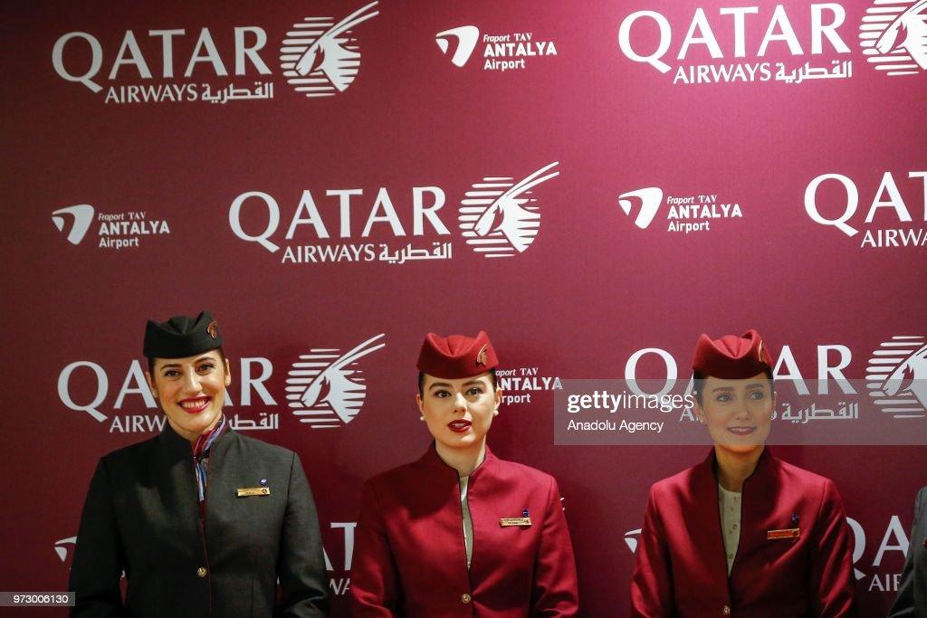 Qatar Airways' first direct flight to Antalya : News Photo