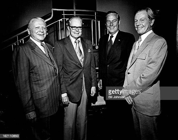 JUL 28 1972 JUL 29 1972 APR 28 1973 APR 29 1973 Officials At Announcement Of Plans For Performing Arts Center From left are Francis Van Derbur Mayor...