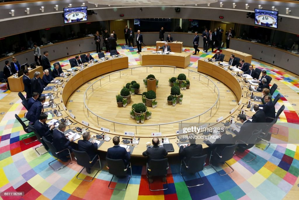 BELGIUM-EU-SUMMIT-DIPLOMACY : News Photo