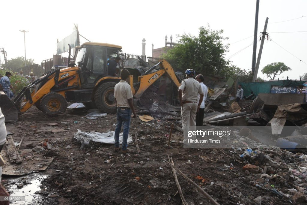 MCD Removes Illegal Structures In Anti-Encroachment Drive : News Photo